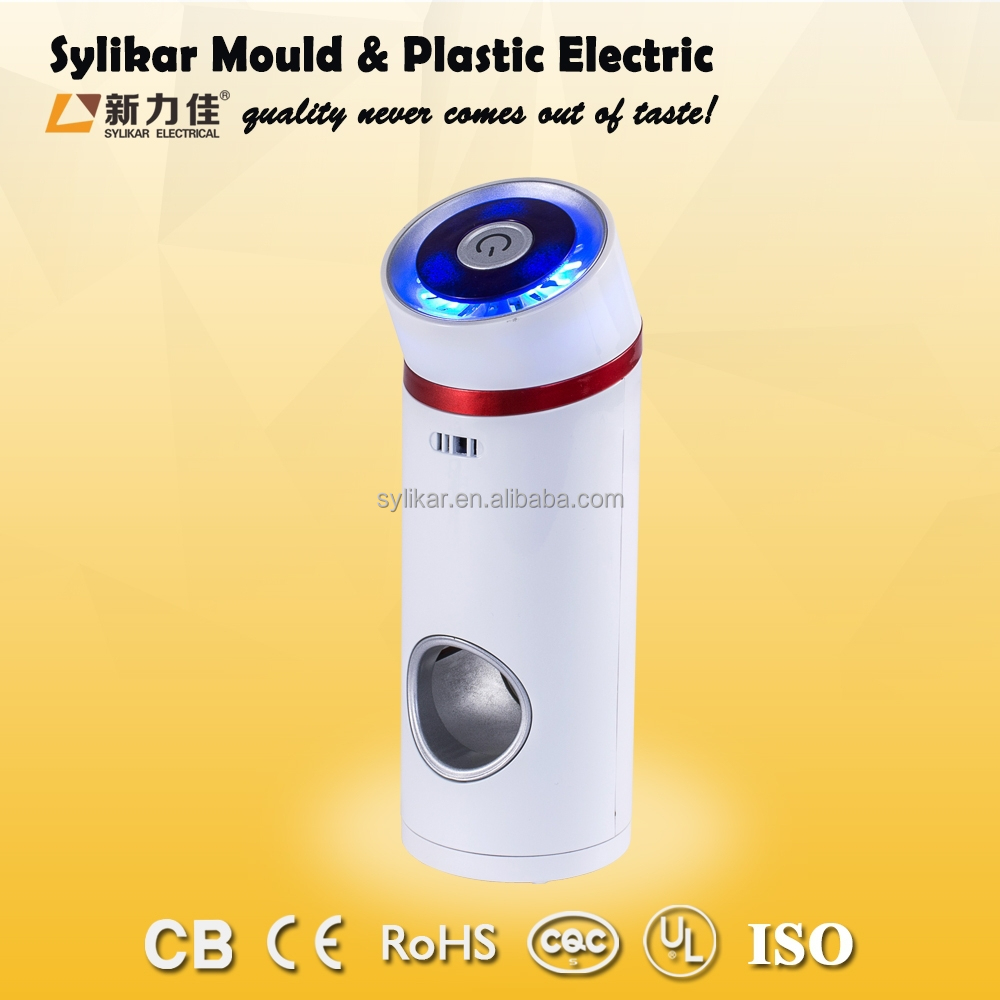 Car Air Purifier Ionizer with Home 12V Adapter Plastic Odor Remove Air Compressor Air Filters