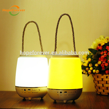 best selling products portable mini speaker led lamp rechargeable indoor lighint table lamp
