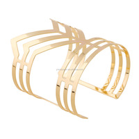 Multilayer Punk Women Cuff Wide Bangles