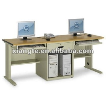 2-Person Single Pillar No Door Double Computer Desk/ Office computer table