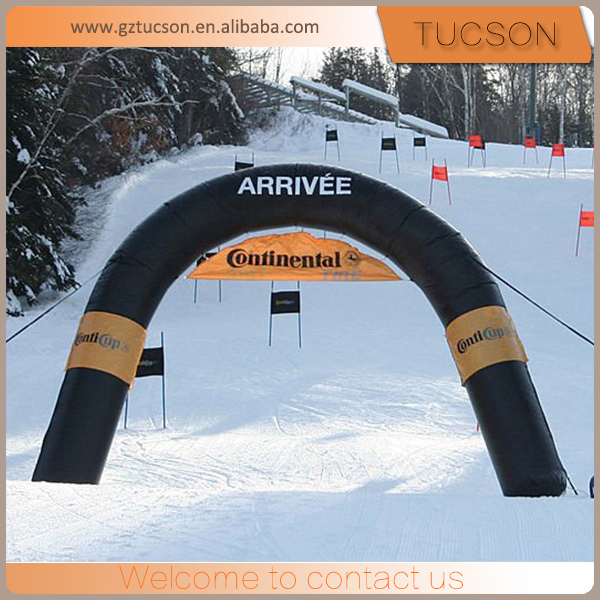 Small black Inflatable sport event arch, outdoor events inflatable arch