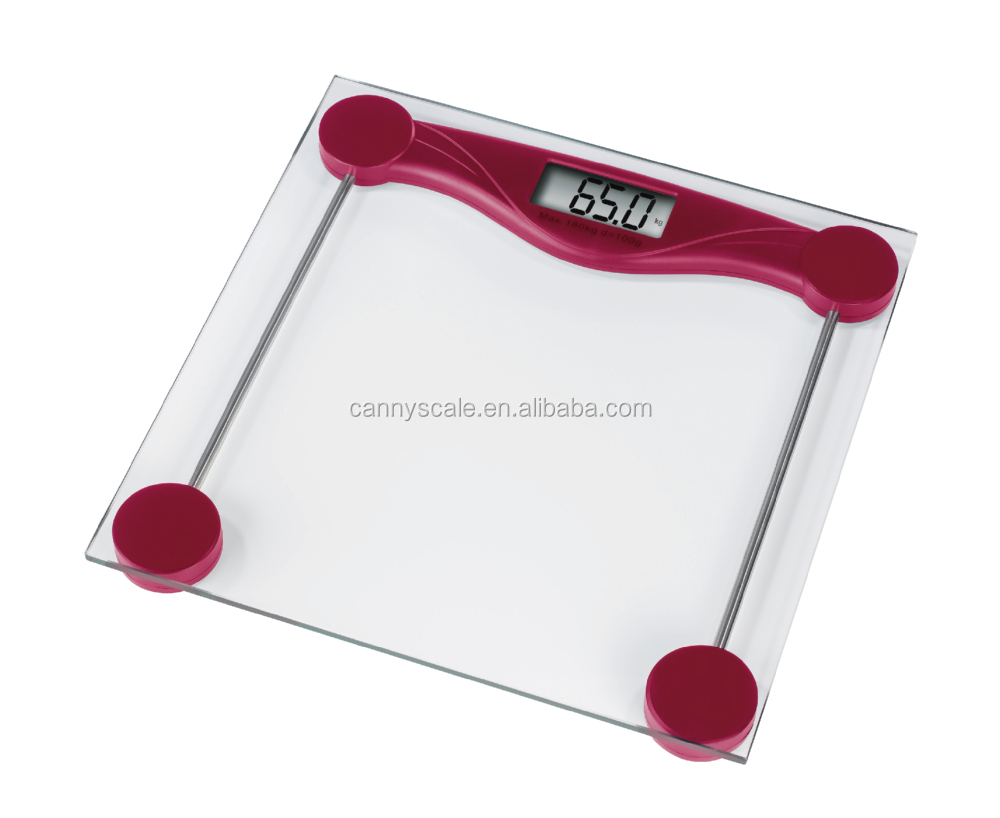 Cheap and clear 180kg digital glass bathroom scale