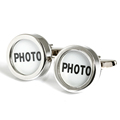 Blank photo cufflinks gift design cufflinks