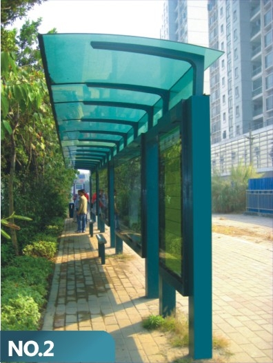 Street Advertising ----- Bus Stop Shelter with Solar Energy