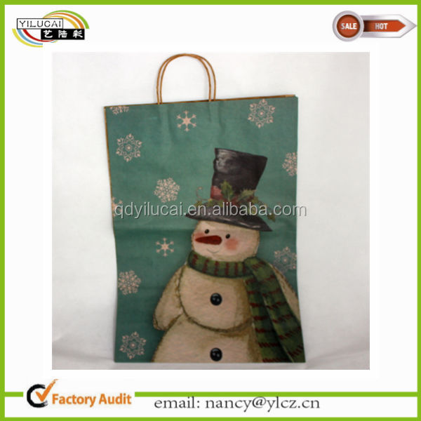 Custom Printed Big Paper Gift Bags for Christmas wholesale