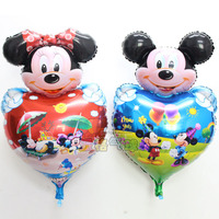 Mickey Mouse Heart Foil Balloon for Party Birthday Decorations