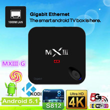 Easy to use MXIII G Amlogic S812 2GB/8GB Quad core Google Android 4.4 TV BOX with XBMC/KODI pre-install