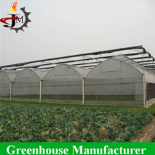 Hot sell plastic film low tunnel greenhouse