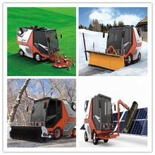 Gold supplier china compact gasoline road sweeper and floor snow sweeper machine