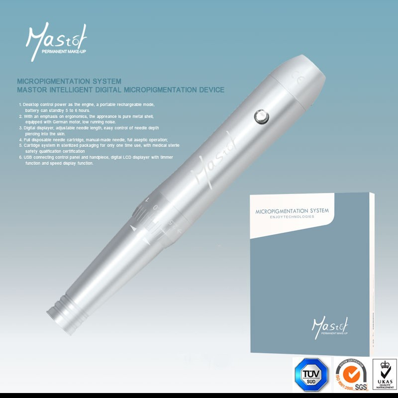 Permanent Makeup Eyebrow Silver Machine Pen For Tattoo Kits