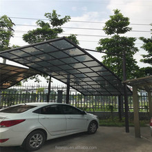 Strong aluminum frame polycarbonate sheet driveway gate canopy carports