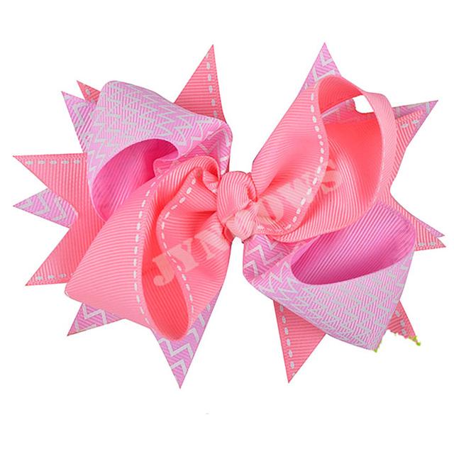 Girl Ribbon Grosgrain Sweet Lovely Personalized Initial Hair Bow