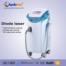 Professional salon use laser diode 808nm hair removal support SHR mode and Stack