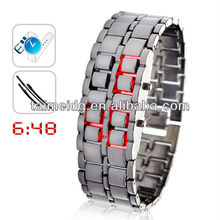 (TM-1342) Fashion and high-quality led watch lava iron samurai watch 2013