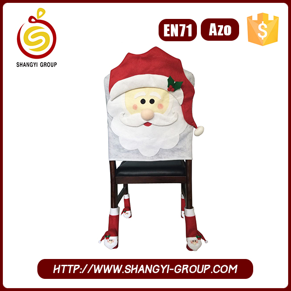 Christmas party polyester santa claus chair cover wholesale cover for chair