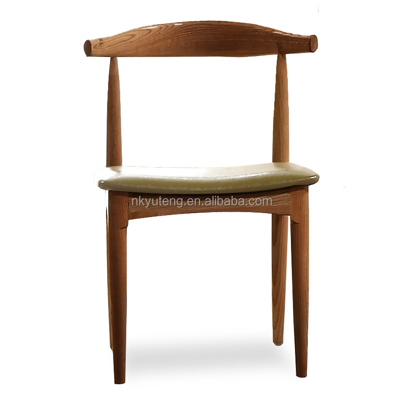 Kitch chair modern fashion Northern Europe style solid wood dining chair stool cloth seat