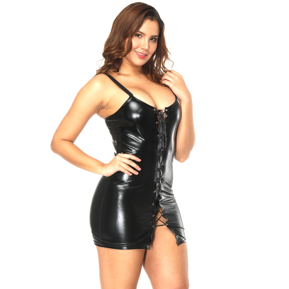 sexy women wetlook leather fetish clothing vinyl lingerie pvc lingerie