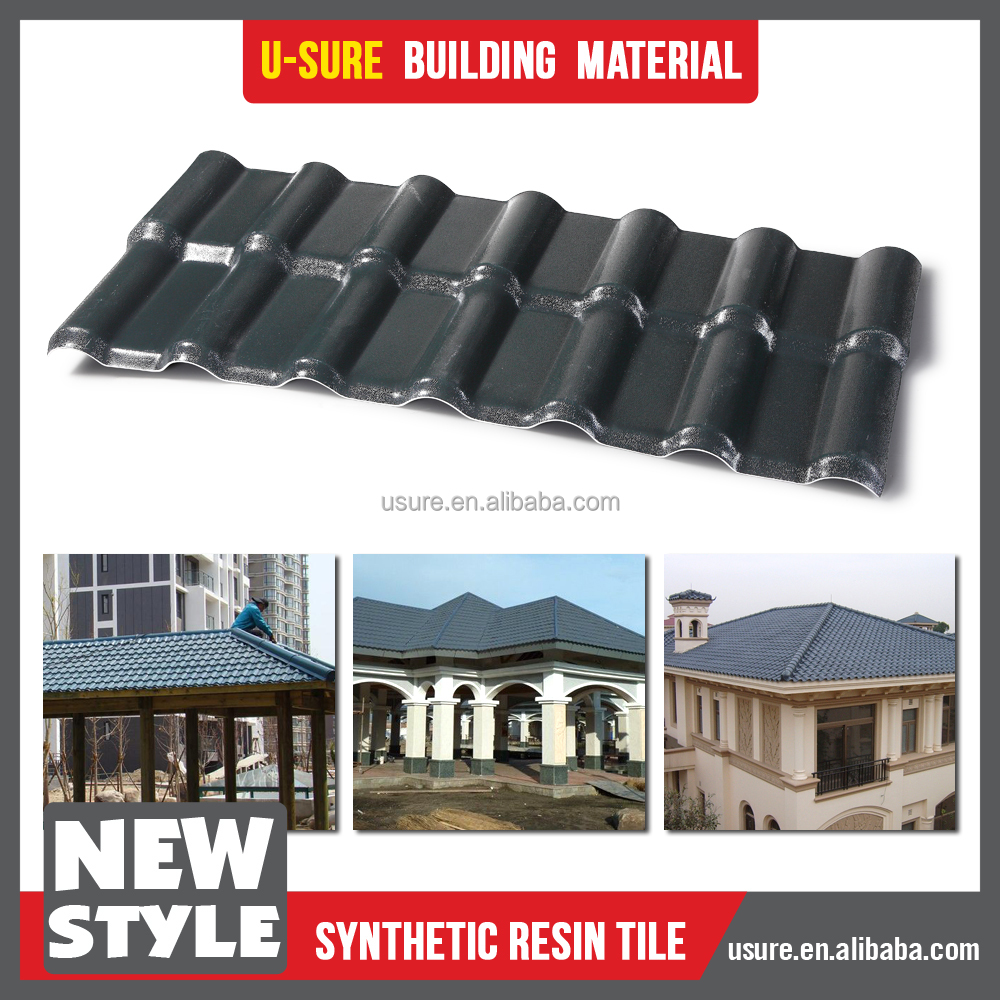 balcony roof / colorful plastic roof cover / synthetic resin roof panel