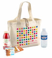 Full print natural cotton tote bag with customized closures for food carry and shopping