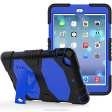 2017 Newest arrival armour stand rugged shock absorbing silicone case for iPad mini 2 3 best seller