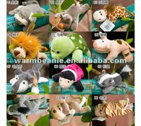 plush dog rhinoceros giraffe lion tortoise pig fox ladybug squirrel asinego monkey tiger fridge magnet plush toy with magnet