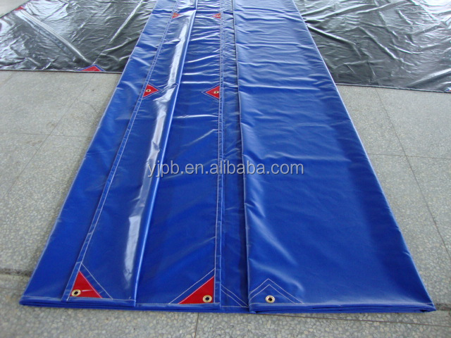 Vinyl PVC Coated Polyester Tarpaulin Truck Tarp Fabric Waterproof Roofing Fabric