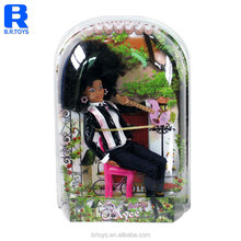 12.5 inch Afro texture hair black doll wholesale vinyl baby doll