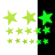 Home wall glow in the dark star stickers decal kids room decor fluorescent star stickers
