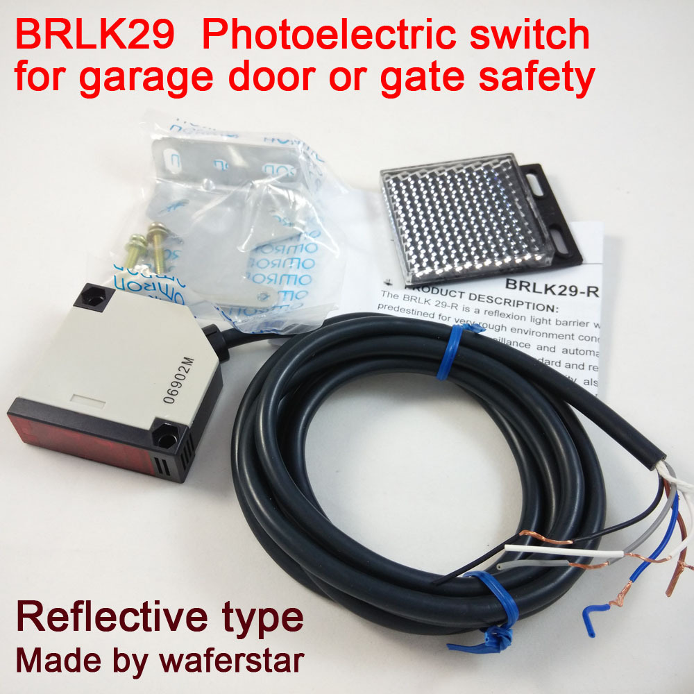 BRLK29 hot sale Relay output photoelectric switch for garage door safety operation