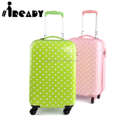 2016 lovely girls carry on trolley travel luggage with four wheels