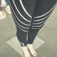 Wholesale Lady Sports Streamer Sexy Glow Yoga Fitness Leggings