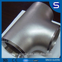 2015 stock Butt welding 45 degree pipe fitting lateral tee