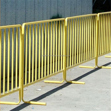 Hot dipped galvanized crowd control barrier used for road