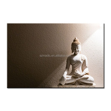 Large Living Room Wall Decoration Coffee Color Buddha Face Oil Painting Giclee on Canvas