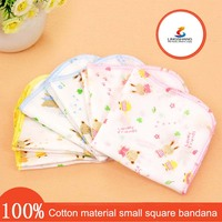 Baby Encryption printing gauze small handkerchief towel Cotton soft square bib bandana