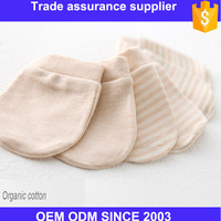 Custom organic color cotton mittens for newborn infant babies and infants