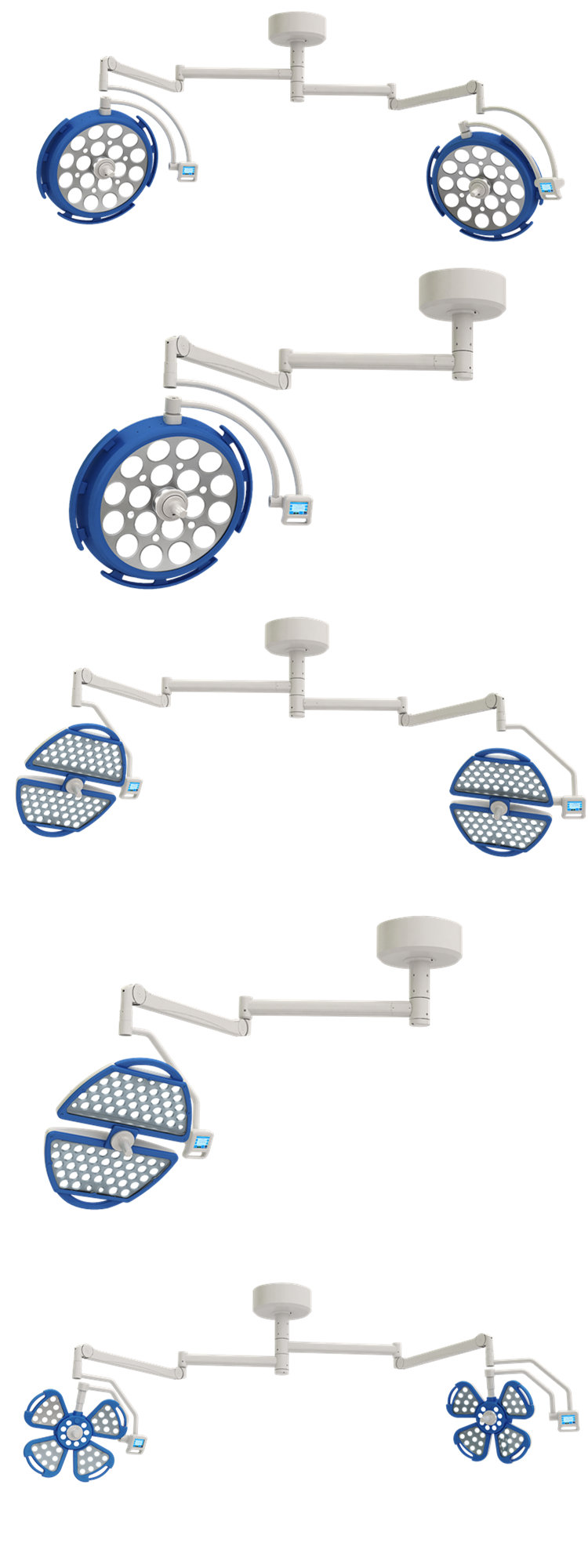 FDA,CE ISO  LED shadowless operation light 700/700  by chinese manufacturer hospital medical equipment with good price