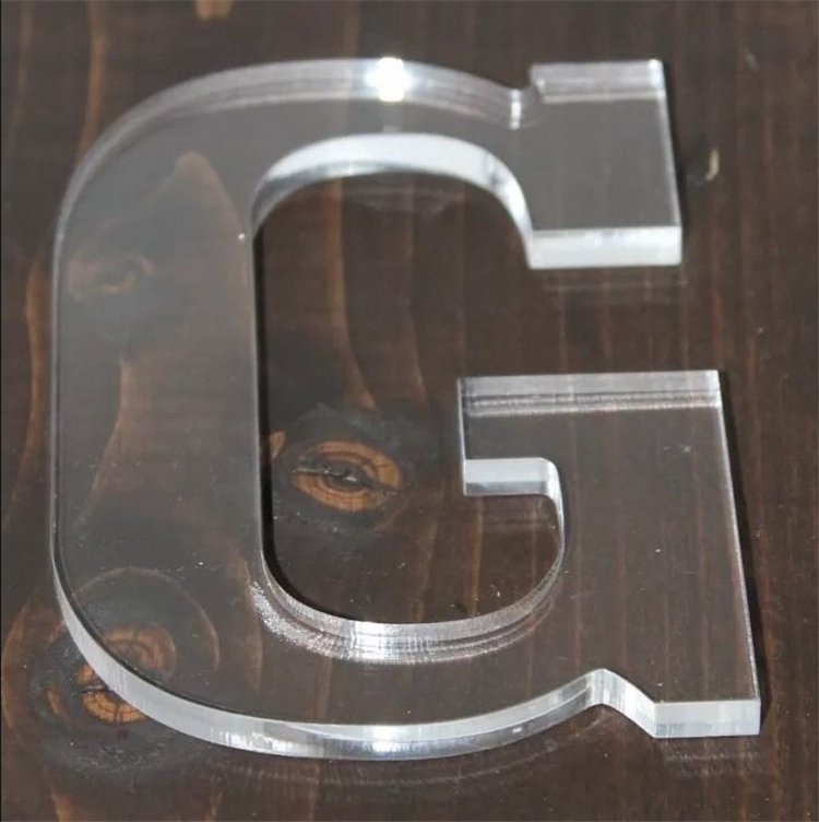 Wholesale factory direct sale laser cutting clear acrylic alphabet letter