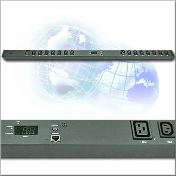 16 ports 230V 16 amp Cabinet PDU- Switched/Monitored