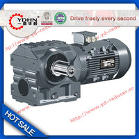New type YDHN brand K series Helical worm gear reducer with shaft
