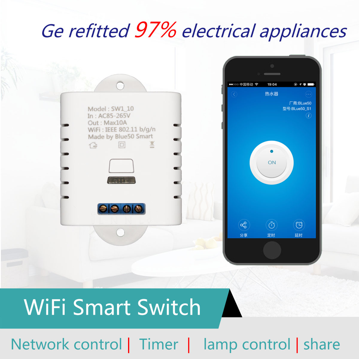 Smart home wifi socket electrical plug, wireless control switch remote network mini smart plug