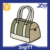 ZOGIFT New arrival Quadratic Element 3D Vision Tote Bags Women Sling Bags Fashion