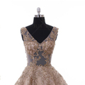 Factory Golden Party Beaded Lace Ball Gown Middle East Evening Dresses