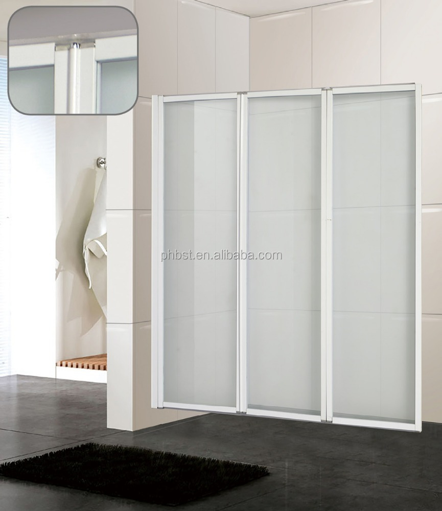 Plastic folding shower doors