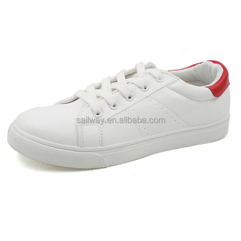 white PU women air sport shoes