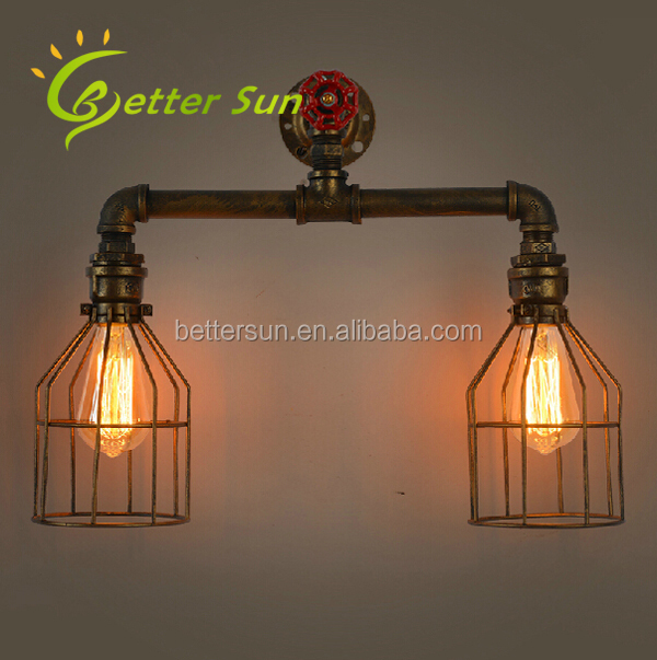 Two Head Metal Cage Modern Moroccan Wall Sconces/Wall Lamp