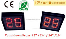 Red color Countdown Basketball Shot Clock for inside and outside