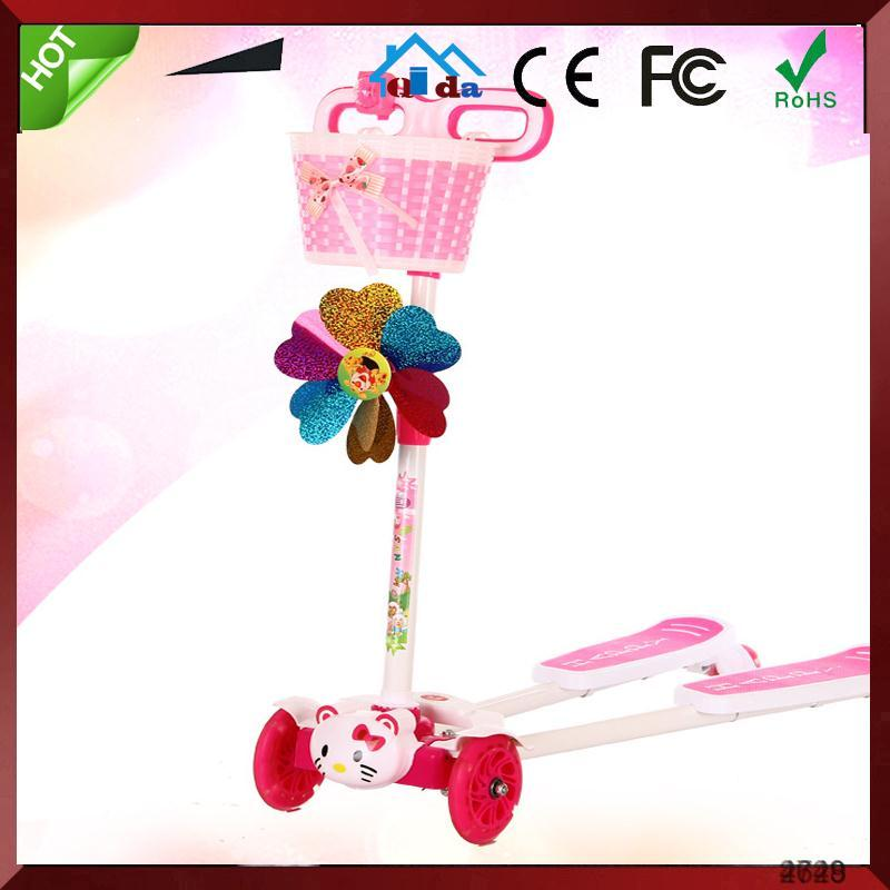 3 Wheels Foldable Swing Frog Scooter Pink Blue Black Green