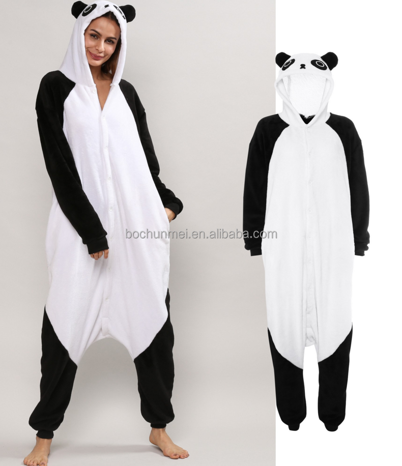 2017 popular adorable panded black & white flannel onesie
