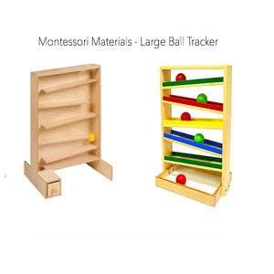 Educational montessori baby sensorial wood magnetic educational toy track ball